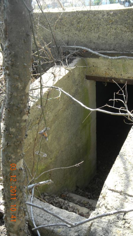 Storm cellar - all that is left of the Frognot School